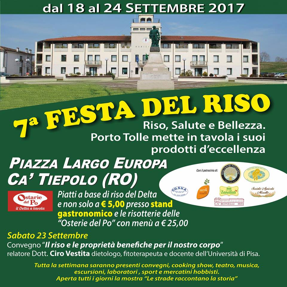 """21/09/2017, """"L'ALIMENTAZIONE VEGANA E VEGETARIANA NEL NUOVO MILLENNIO"""", PORTO TOLLE(RO)"""